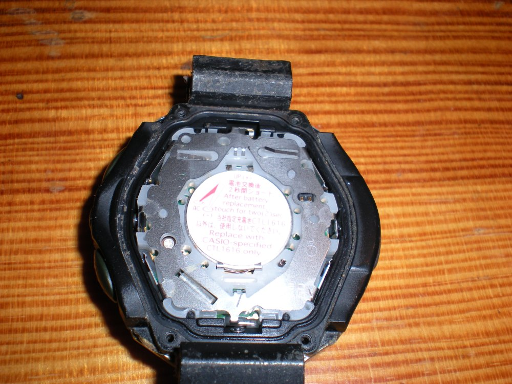 How to change the battery on a Casio ProTrek Solar Powered watch (3/6)