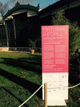 Exhibit site Natural Recall - Presentation panel