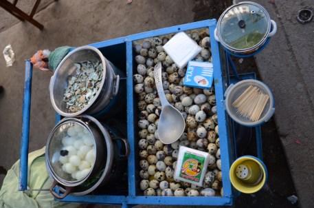 Eggs - street food in Huaraz