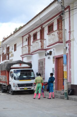 """Toreros chlling out before the corrida in front of """"the casona"""" - Chavin"""