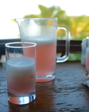 "Refresco de camu-camu (juice) at ""La Noche"", Iquitos"