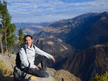 AT 7pm20, After trekking 1100m up at Canyon del colca