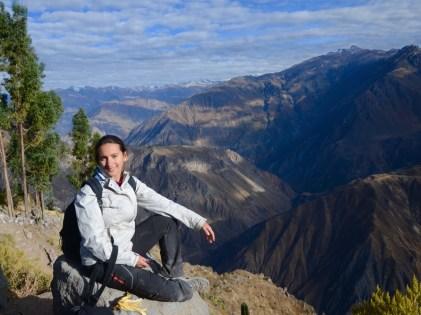 AT 7pm20, After trekking 1100m up at Canyon del colca