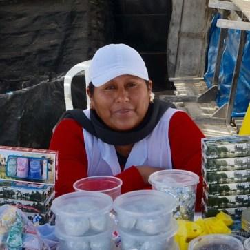 Chocotejas Vendor, Pracas, Silvia