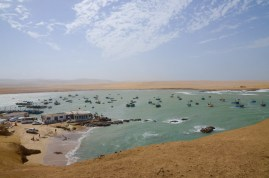 Desert and sea at Paracas