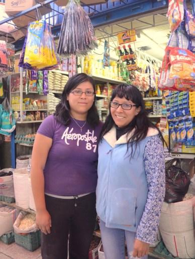 Vanessa and Pamela at Arequipa Market