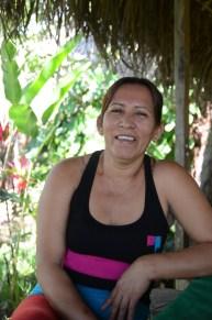Debora in her resort, Laguna Azul, San Martin