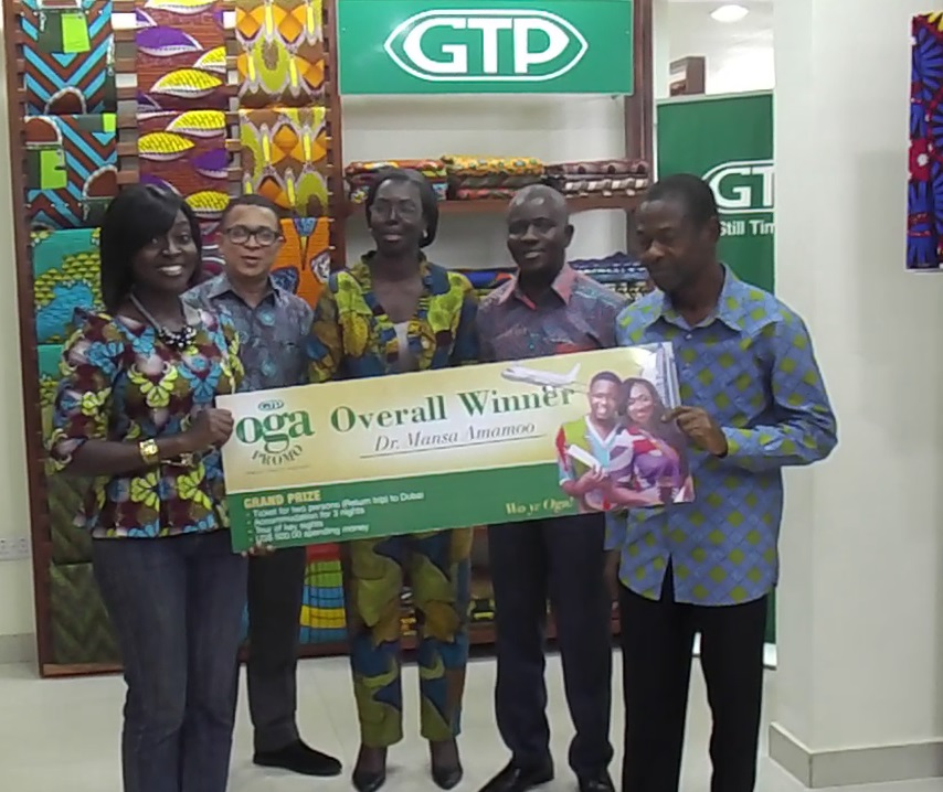 Presentation of Ultimate Prize to Winner of OGA Consumer Promotion