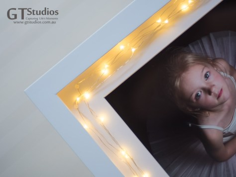 Like stardust glistening on fairies wings - our Fairy Frame is the most exquisite frame you could find for your precious little Fairy or Princess - it will glisten softly and makes a great night light for anyone who needs a little more light in their night - even knights who slay dragons in their dreams. A matted print in a deep framed box - the fairy lights make this so special. Battery or plug pack available.