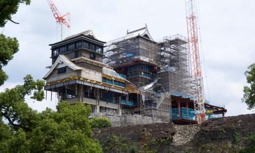 熊本城復旧工事中