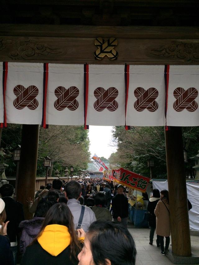 健軍神社 参拝客
