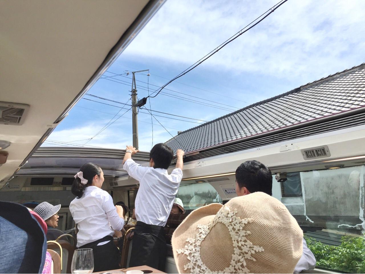 レストランバス 天井開放
