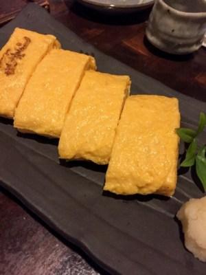 蕎麦 木曽路:鉄板の卵焼き