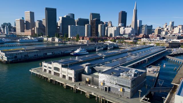 SunPower solar installation at the Exploratorium children's museum in San Francisco