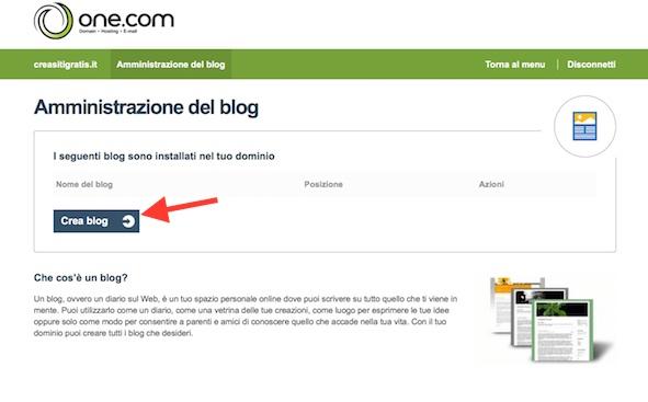 Creare un Blog con One.com