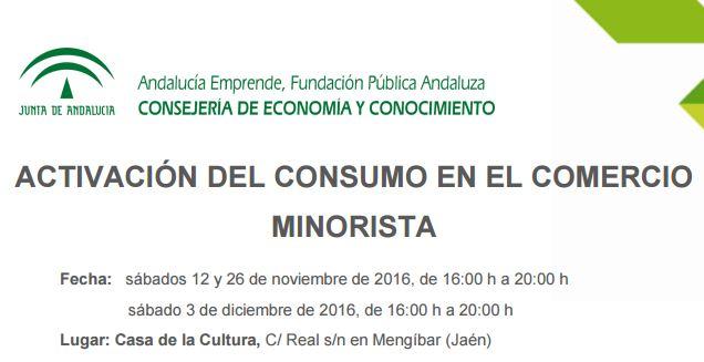 Jornadas: ACTIVACIÓN DEL CONSUMO EN EL COMERCIO MINORISTA