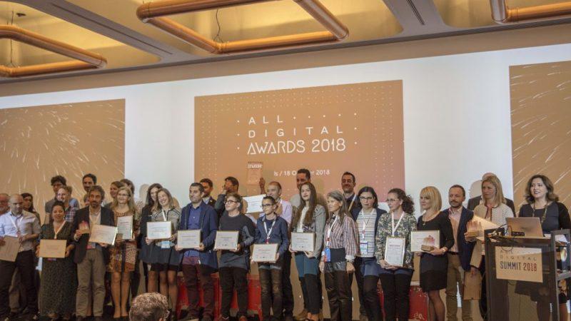 All Digital 2018. Entrega de premios