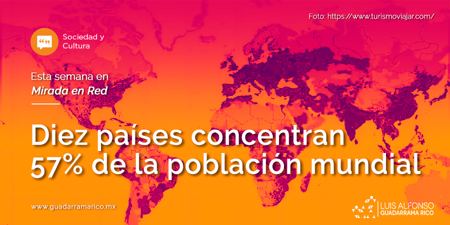 Diez países concentran 57% de la población mundial