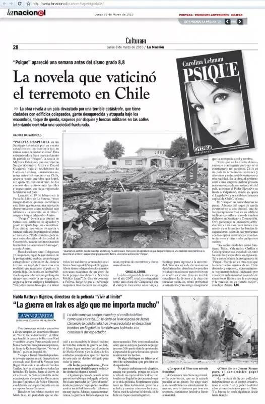 Psique en diario La Nación 2010