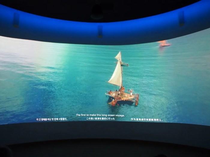 グアムの歴史再現ムービー(グアムミュージアム)