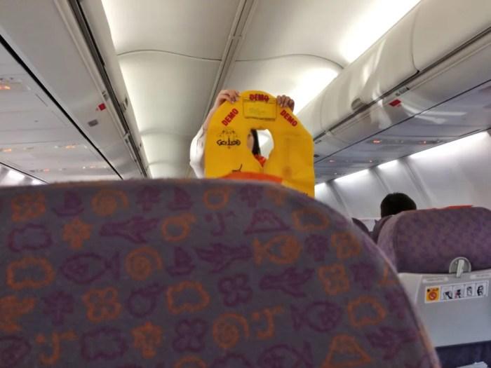 チェジュ航空機内