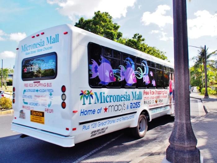 マイクロネシアモール無料送迎バス