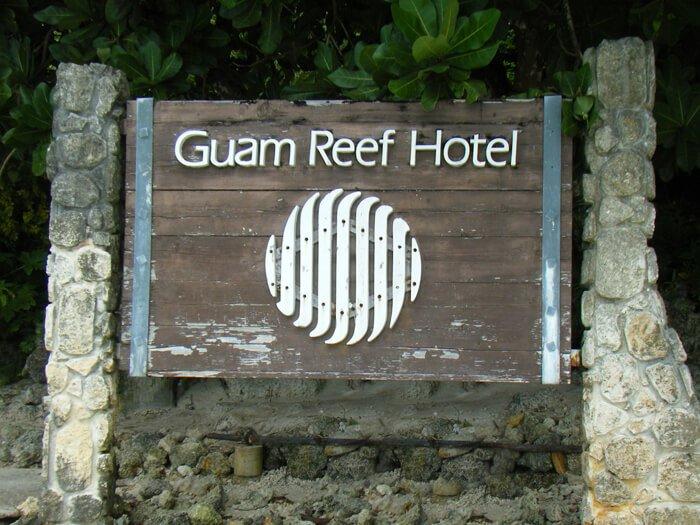 グアムリーフホテル看板