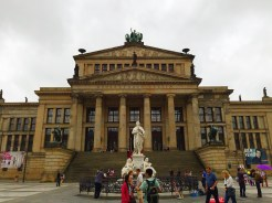 17. The Konzerthaus Berlin (Concert House Berlin). The concert hall is flanked by the Deutscher Dom (German Cathedral) on the left and the Französischer Dom (French Cathedral) on the right, and these buildings make for a great panoramic shot.