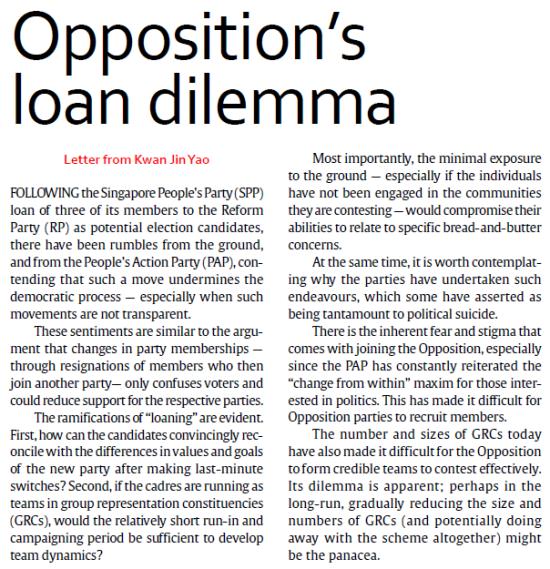 (TODAY) Opposition's Loan Dilemma - https://guanyinmiao.files.wordpress.com/2011/04/oppositions-loan-dilemma.pdf.