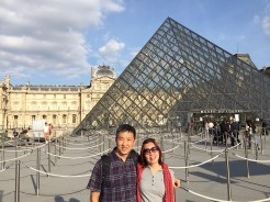 3. The façade of the Musée du Louvre is very recognisable, with its palace and the distinctive glass pyramids outside the complex. We visited the art museum on a separate day, in the evening.