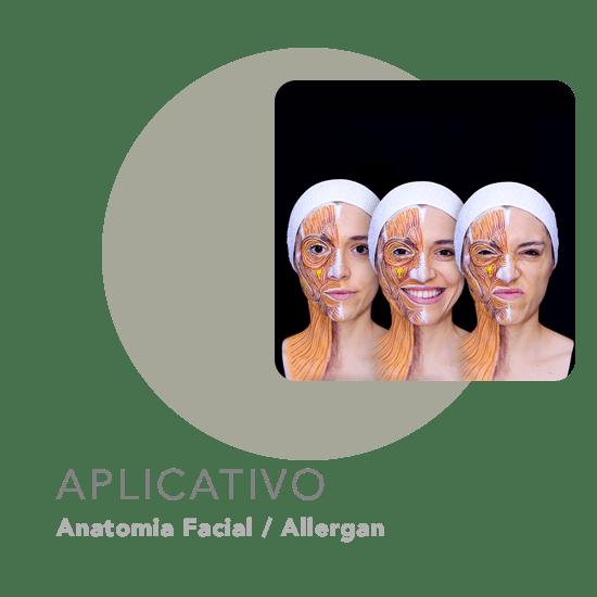 Aplicativo livro Anatomia Facial - Allergan