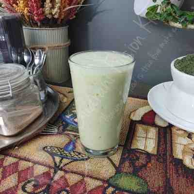 Healthy Green Apple Oatmeal Smoothie