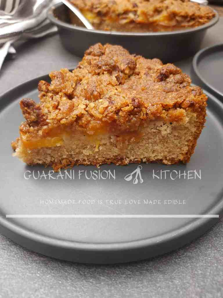 Fresh Peach Cake with Streusel Topping