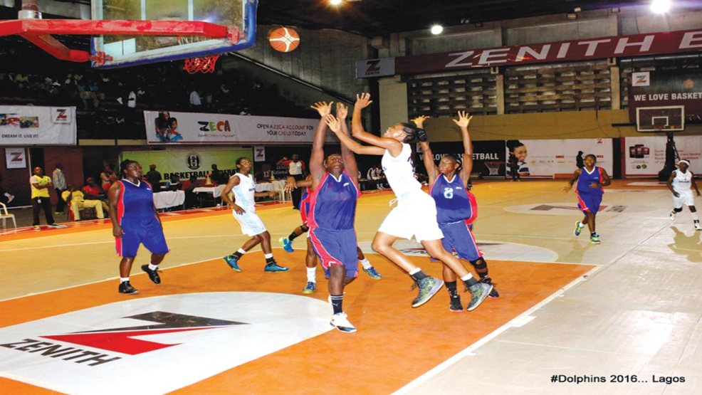 Dolphins Basketball Club of Lagos battling with the Customs BC in the semifinal of the on-going Zenith Bank Women Basketball League Super Eight ply-off. The Wale Aboderin girls will meet First Bank in the final of the competition… today.