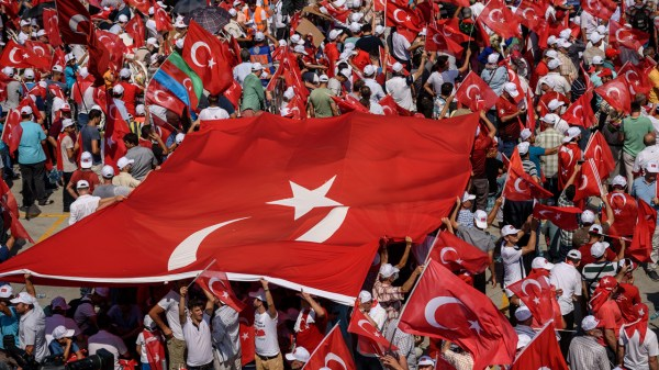 Huge crowds gather for Turkish pro-democracy rally to show ...