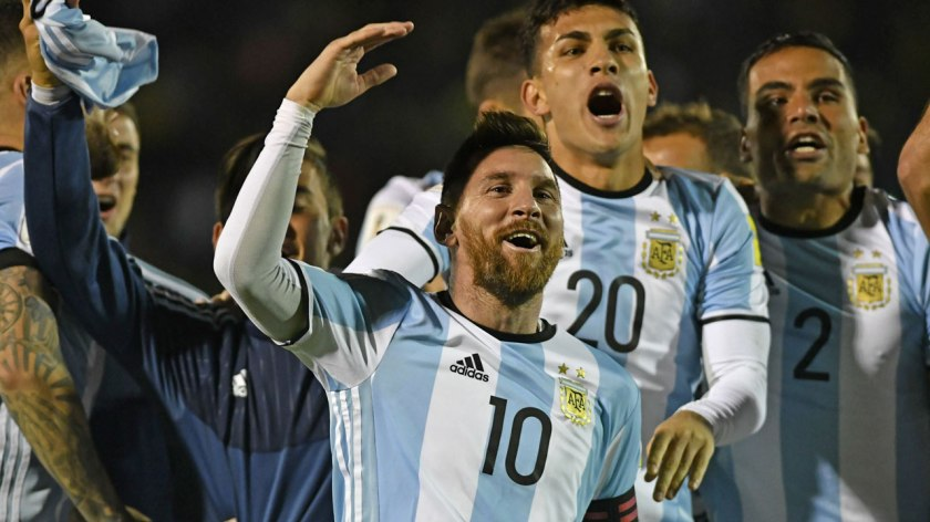 Image result for Messi treble fires Argentina to World Cup