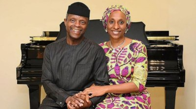 Image result for osinbajo and wife