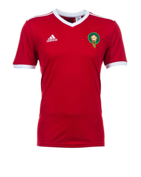 27163cb7390 With the Adidas stripes better placed on the shoulder it certainly ranks  higher than Egypt s work. The Adidas logo and the Moroccan crest are nice  touches ...