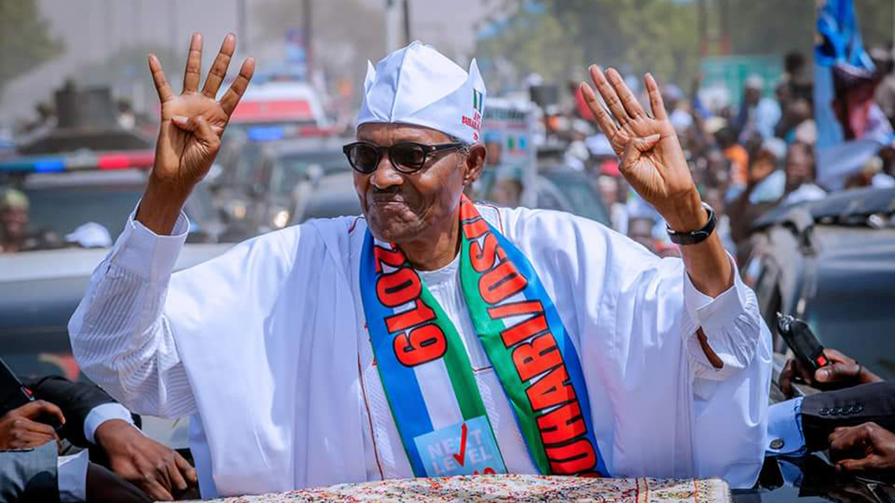Image result for Buhari wins at Obasanjo's polling unit