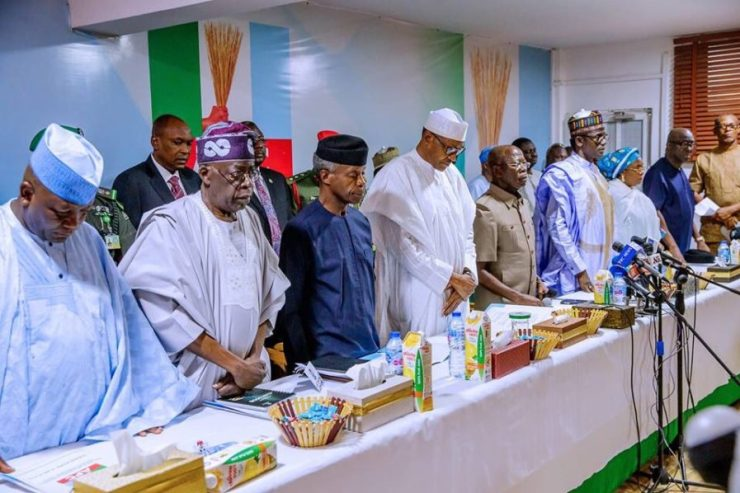 Image result for apc caucus meeting today  Panic In Aso Rock As Atiku's PDP Reject Buhari's 'Licence To Kill' Order, Reveals Next Line Of Action DzsPA3CXcAARSpm 897x598