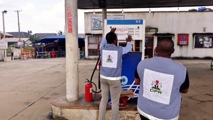 6 DPR sealing Excelsis Filling Station for alleged under dispensing petrol to motorists in Eleme Rivers