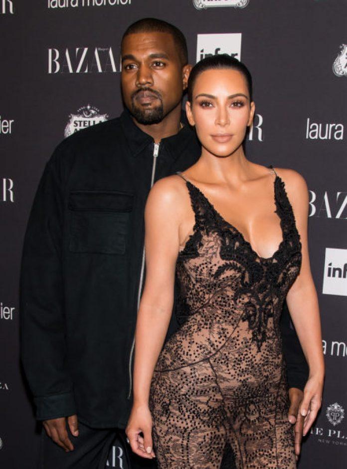 Kanye and Kim. Photo The Sun