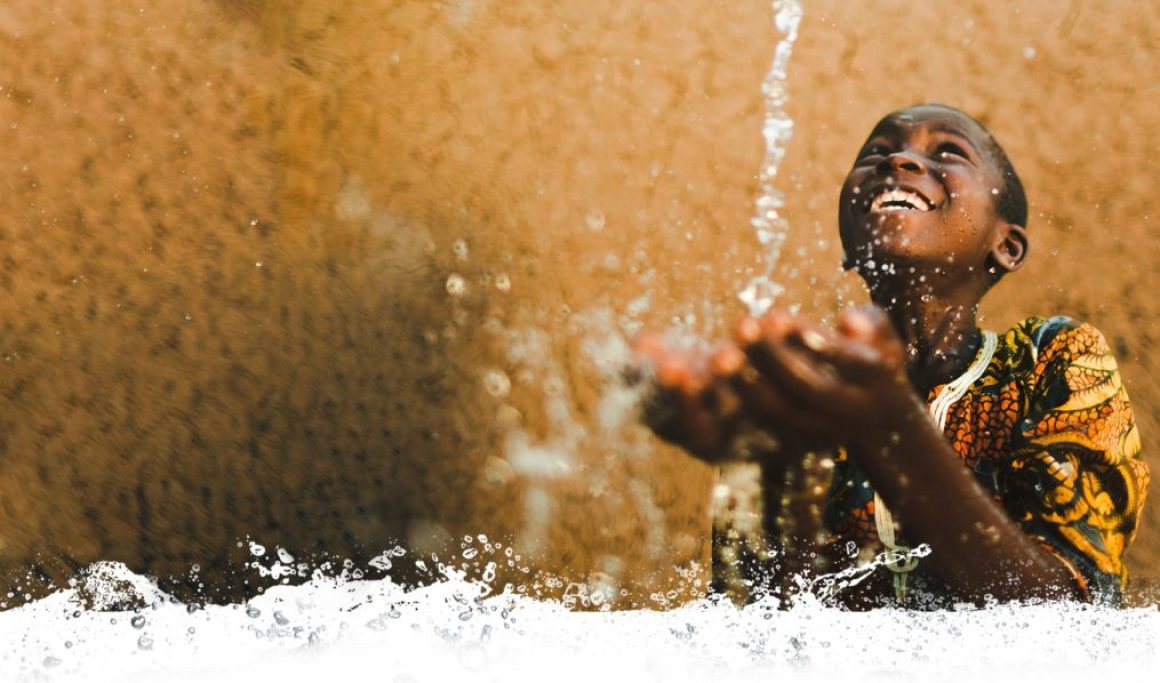 A child playing with water