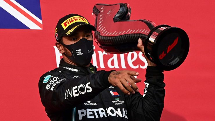 Hamilton wins in Imola, Mercedes claim record 7th straight constructors' title