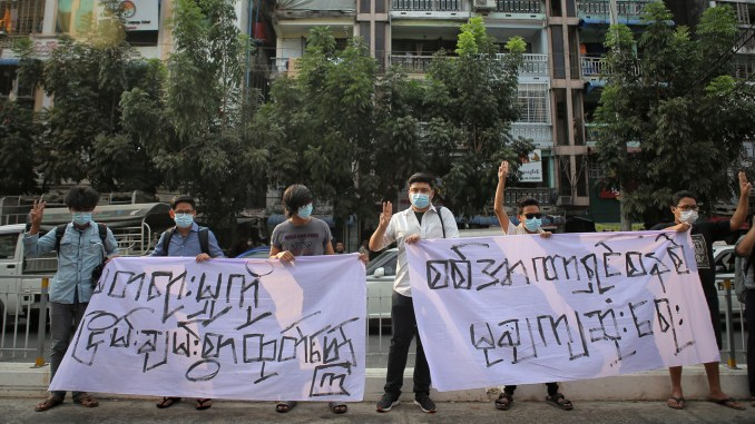 Myanmar military widens coup dragnet as scores protest at university