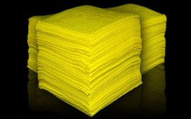 Haz-mat absorbent pads