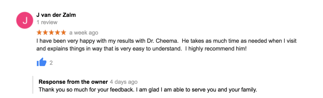 Guardian Family Chiropractic Review, St. Catharines Chiropractor, Chiropractor in St. Catharines, I have been very happy with my results with Dr. Cheema. He takes as much time as needed when I visit and explains things in way that is very easy to understand. I highly recommend him!