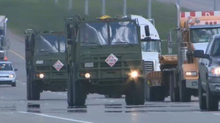 CFB Military Convoys Deploy to #Calgary Flood, #yycflood, #abflood