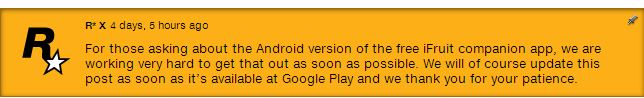 GTA V iFruit Delays Android Users from Chop the Dog