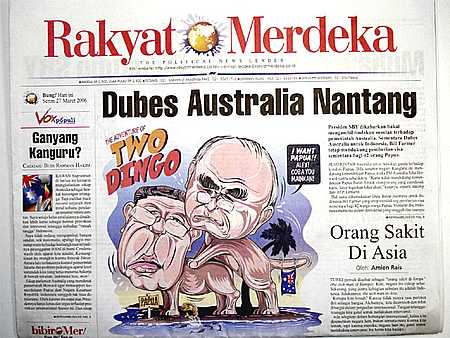 2006 Offensive Cartoon in Indonesian Newspaper